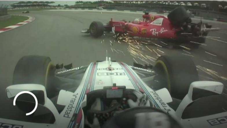 F1 | Vettel – Stroll: nuove immagini dell'onboard del canadese a Sepang. Di chi è la colpa dell'incidente? [VIDEO]