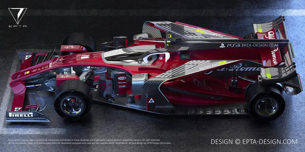 F1 | EPTA Design tra passato e futuro: ecco il concept dell'Alfa Romeo Brabham Evo 2018