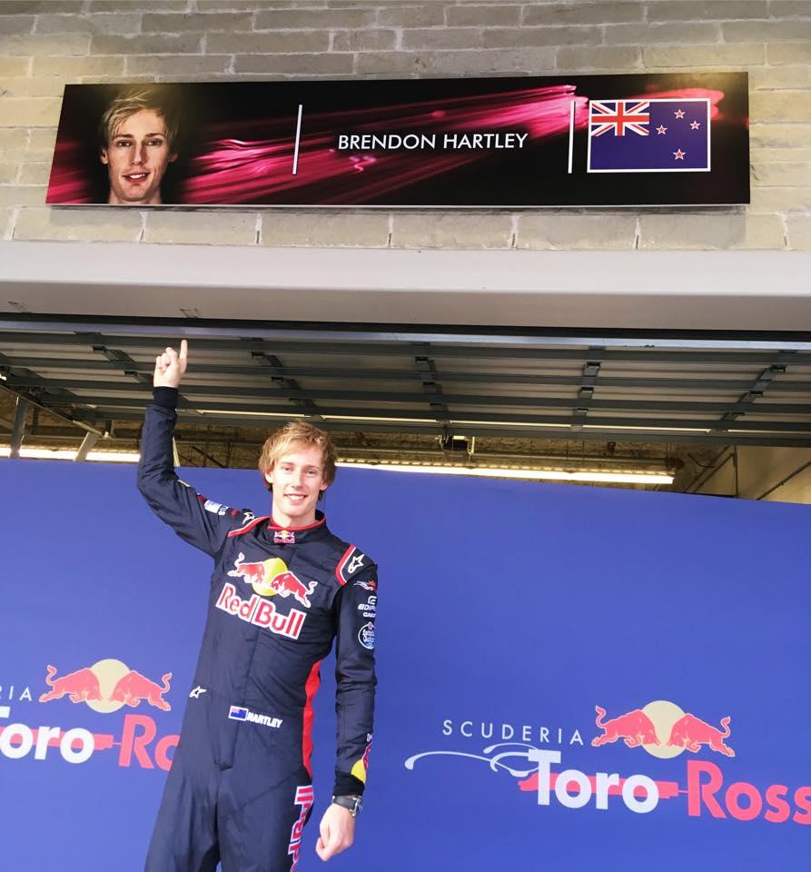 F1 | La prima foto di Brendon Hartley in Toro Rosso