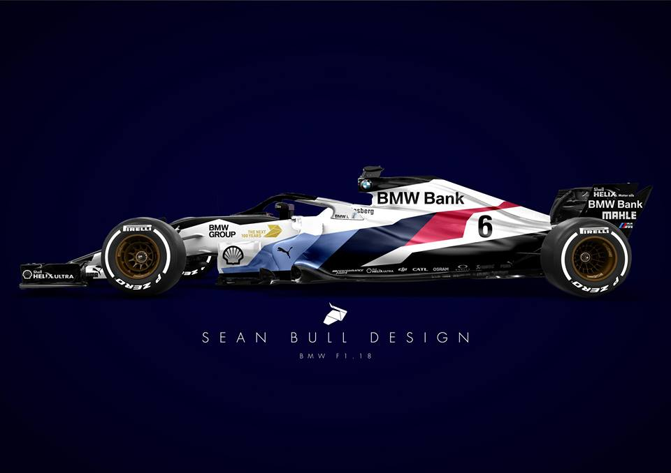 F1 | L'ipotetica livrea di una BMW di Formula 1