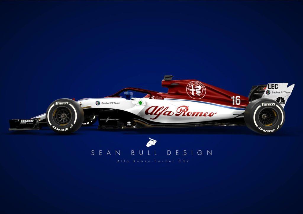 F1 | Halo rosso e meno bianco sulle pance: ecco la livrea Alfa Romeo Sauber secondo il grafico Sean Bull