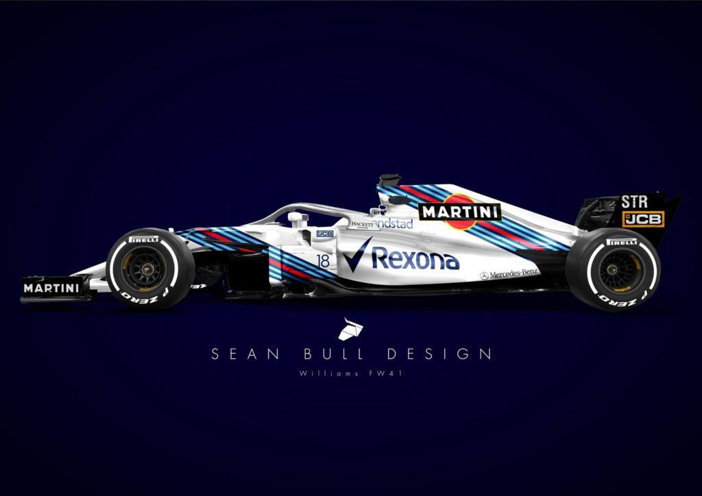 Formula 1 | Williams Martini Racing 2.0: ecco la proposta di Sean Bull per la livrea 2018