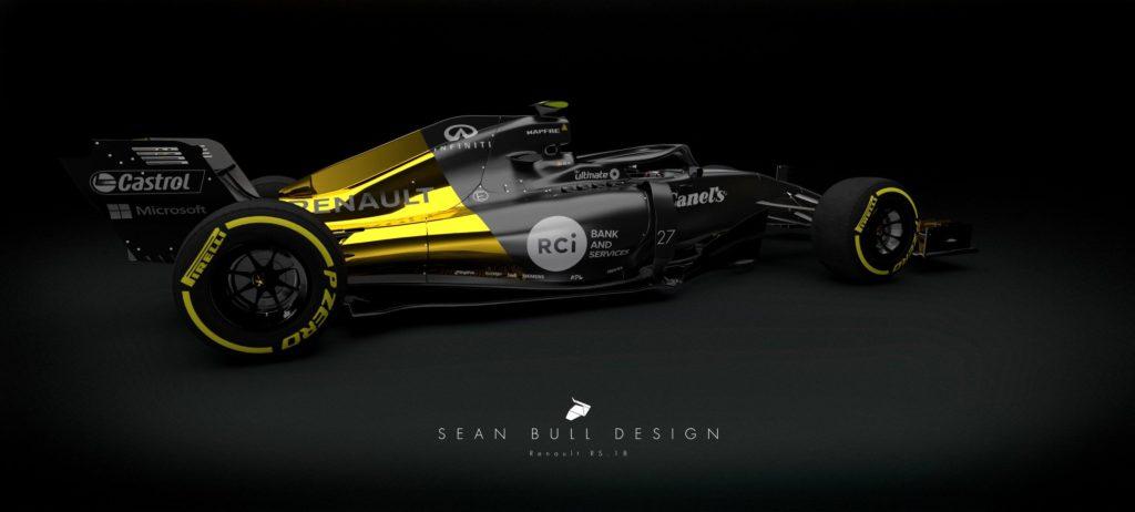 Formula 1   Renault concept 2018: ecco la livrea ipotizzata da Sean Bull