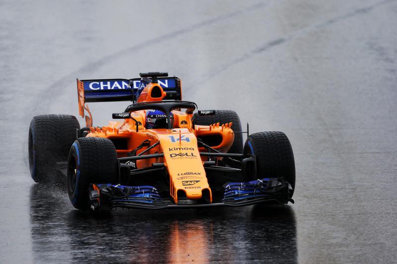 Test F1 Barcellona 2018, Giorno 3: La neve protagonista. Alonso unico con un crono