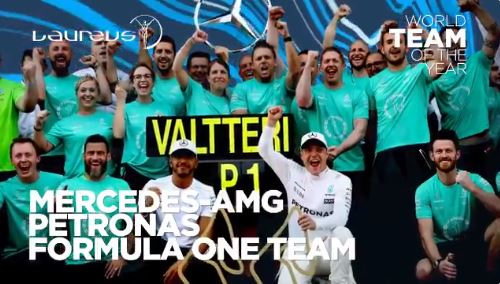 F1   Mercedes premiata come miglior team dell'anno