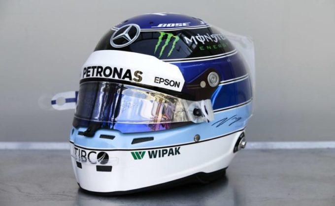 F1   Bottas in pista a Montecarlo con i colori del casco del connazionale Hakkinen