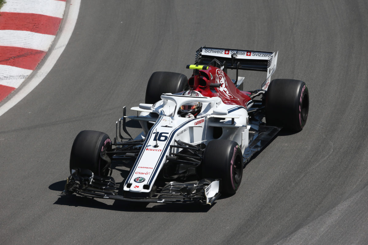 f1 alfa romeo sauber leclerc soddisfatto felice della qualificazione in q2. Black Bedroom Furniture Sets. Home Design Ideas