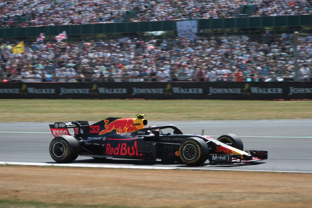Silverstone, la carica di Verstappen: