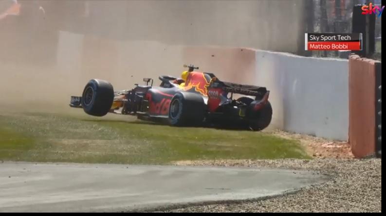 F1 | Verstappen a muro nella seconda sessione di libere a Silverstone: la ricostruzione [ANALISI VIDEO]