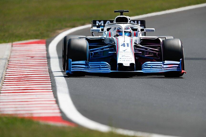 F1 | Test Budapest, Williams e Force India in pista con un prototipo di ala 2019