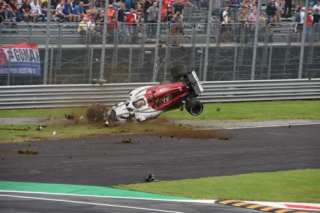 F1 Monza, terribile incidente di Ericsson a 300 km/h