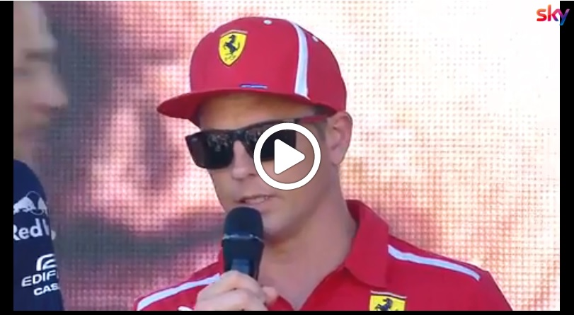 F1 Milan Festival | Ferrari, Raikkonen carica i tifosi in vista del weekend di Monza [VIDEO]