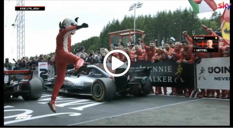 F1 | GP Belgio, Vettel show sotto la bandiera a scacchi: ecco il team radio al termine della gara [VIDEO]