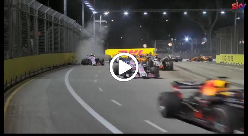 F1 | GP Singapore, l'analisi della partenza: Hamilton rapidissimo, Perez manda a muro Ocon [VIDEO]