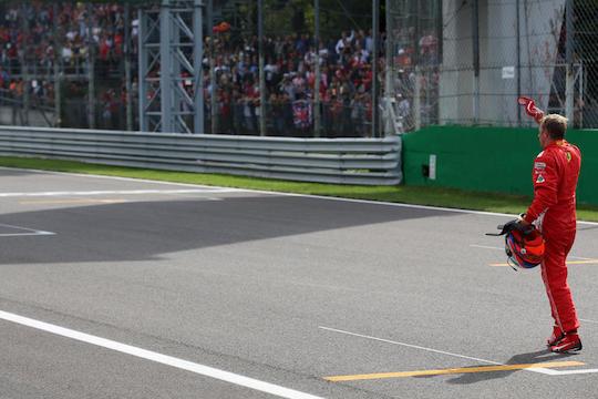 Gp Monza: Ferrari seconda, Vettel chiude quarto dopo lo scontro con Hamilton