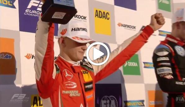 F3 | Mick Schumacher trionfa in Formula 3 europea: le immagini della festa di Hockenheim [VIDEO]
