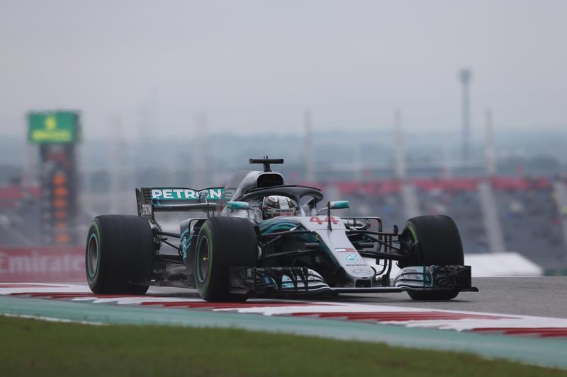 F1 GP Stati Uniti, Prove Libere 2: sotto la pioggia Hamilton rimane al comando