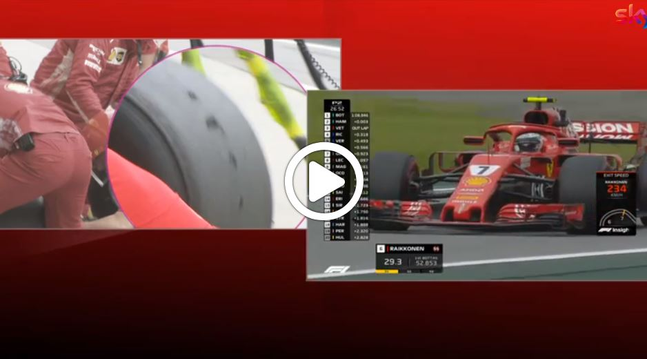 F1 | Ferrari, blistering sulla gomma posteriore di Vettel nelle FP2 [VIDEO]