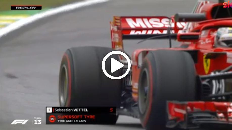 F1 | Sky Tech, l'usura della gomma posteriore di Vettel [VIDEO]