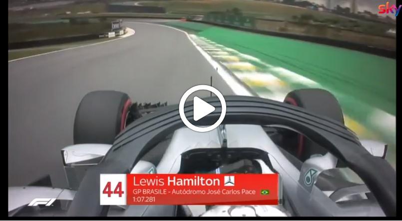 F1 | GP Brasile, Hamilton conquista la decima pole stagionale: il giro onboard [VIDEO]