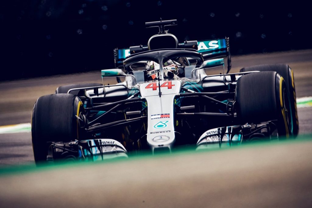 F1 GP Brasile: Hamilton e la Mercedes festeggiano a Interlagos