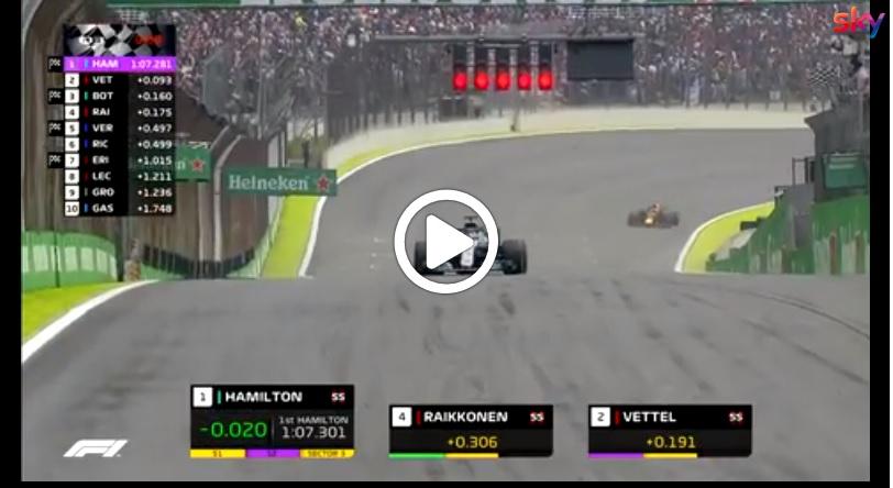 F1 | GP Brasile, pole da record di Lewis Hamilton: gli highlights della qualifica [VIDEO]