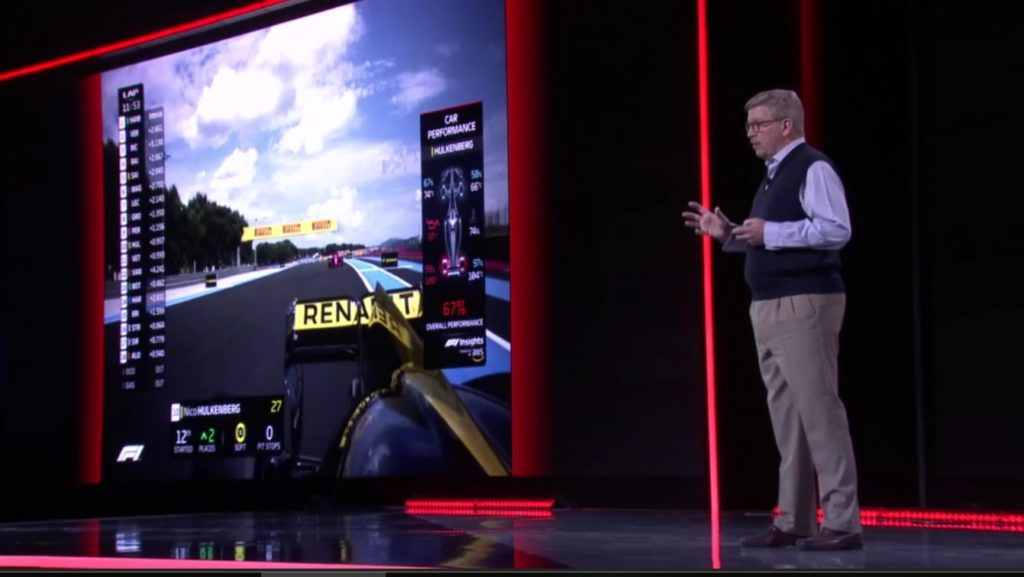Formula 1 | F1 Insights, Ross Brawn anticipa le nuove grafiche con intelligenza artificiale per il 2019