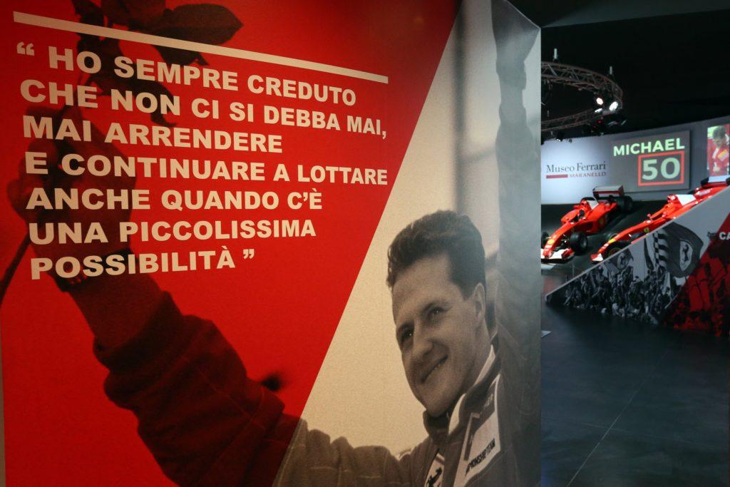 """Apre oggi """"Michael 50"""", la mostra dedicata a Schumacher"""