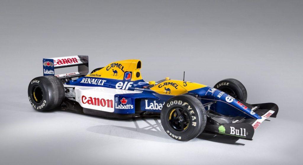 F1 | Williams, sarà battuta all'asta la FW14B utilizzata da Nigel Mansell nel 1992