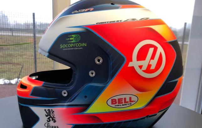 F1   Grosjean mostra il suo casco 2019