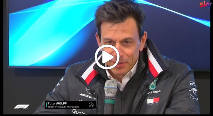 """F1 Test   Mercedes, Wolff sulla nuova Ferrari: """"Binotto merita, ma il ruolo è molto faticoso"""" [VIDEO]"""