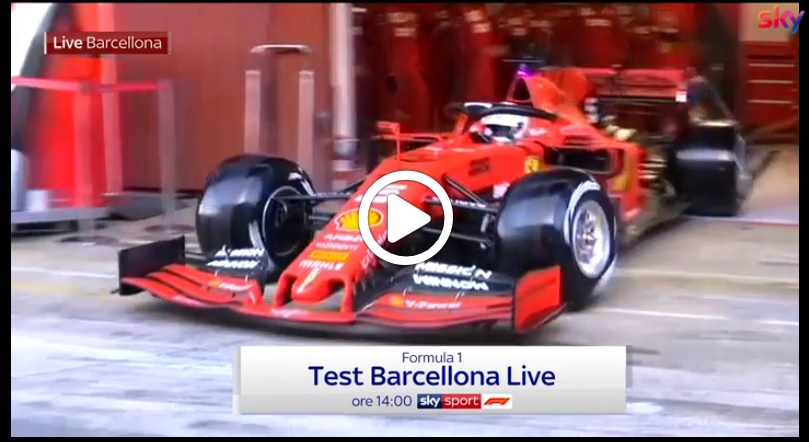 Formula 1 Test | Ferrari, mattinata positiva per Vettel e la SF90 a Barcellona [VIDEO]