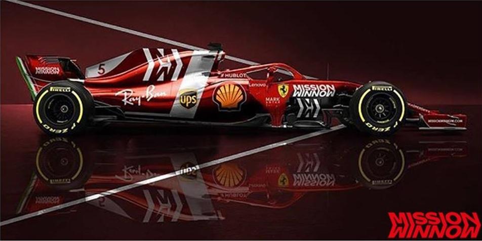 Nuova Ferrari F1 2019: ipotizzati sul web alcuni bozzetti sulla nuova livrea Mission Winnow [RENDER]