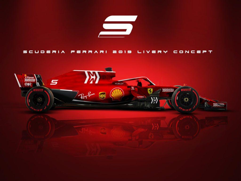 F1 | Ferrari, sale la curiosità per la nuova livrea Mission Winnow [RENDER]