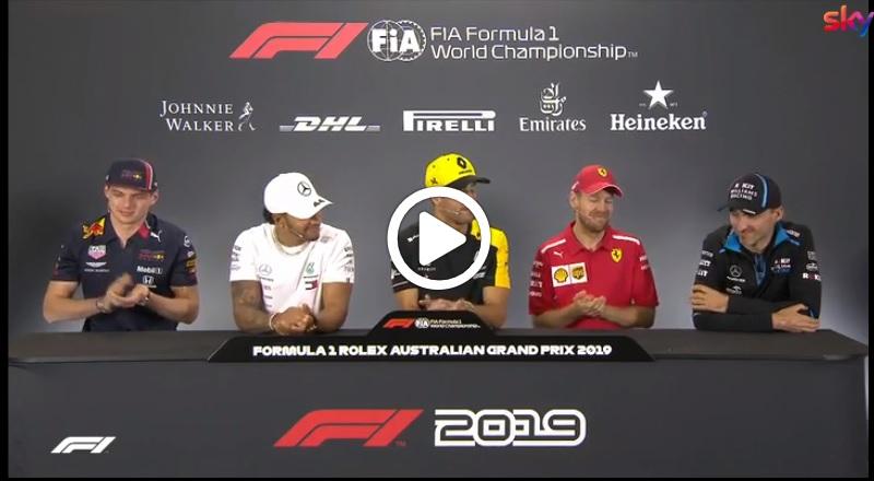 Formula 1   GP Australia: Kubica ritorna ufficialmente in F1: l'applauso dei colleghi durante la conferenza stampa [VIDEO]