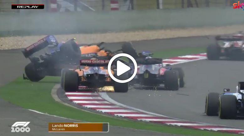 F1 | La partenza del GP della Cina e l'incidente tra Kvyat e le McLaren [VIDEO]