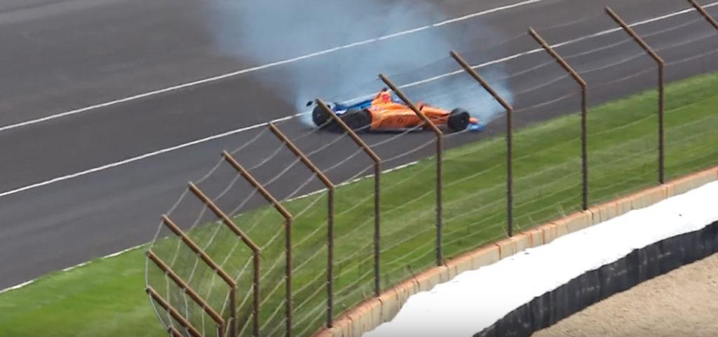 Indy500 | Alonso, brutto incidente per lo spagnolo nelle libere della 500 Miglia [VIDEO]
