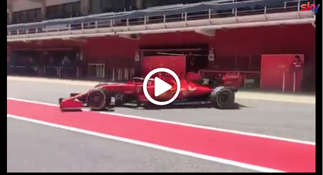 Formula 1 Test | Ferrari, Fuoco completa 247 giri all'esordio con la SF90 [VIDEO]