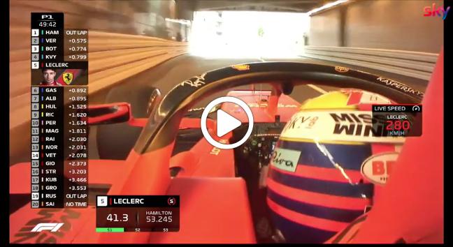 F1 | Ferrari, un giro onboard a Monaco insieme a Charles Leclerc [VIDEO]