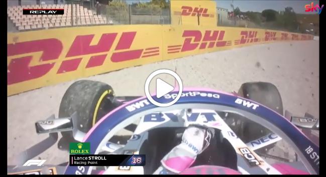 Formula 1 | GP Spagna, Stroll a muro nelle FP1 di Barcellona [VIDEO]