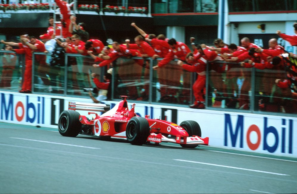 La Ferrari F2002 di Schumacher all'asta il 30 novembre ad Abu Dhabi