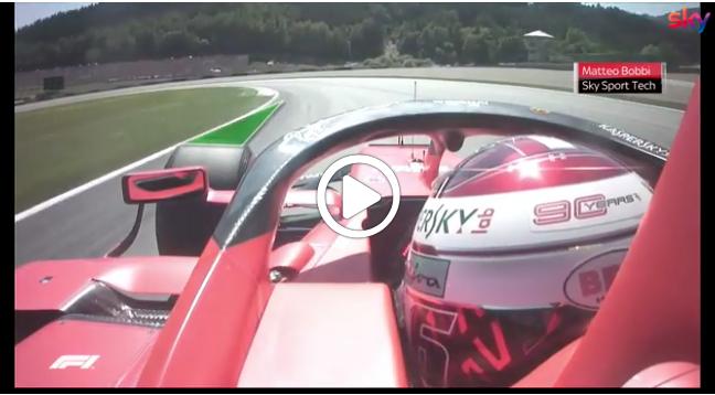 Formula 1   GP Austria, le differenze di traiettoria tra Leclerc e Vettel in qualifica [VIDEO]