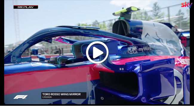 F1   GP Canada, Toro Rosso imita la Mercedes: specchietti in versione appendici aerodinamiche [VIDEO]