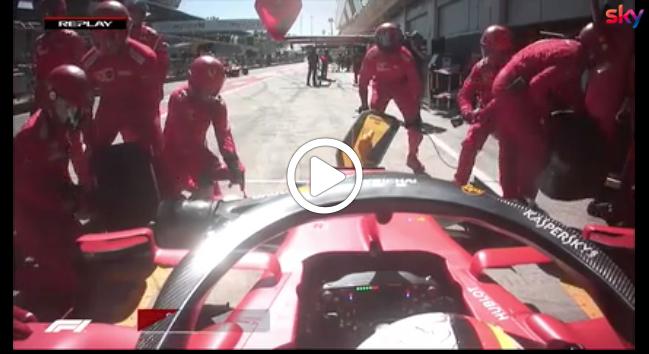 F1   GP Austria, Vettel e il pit stop senza le gomme [VIDEO]