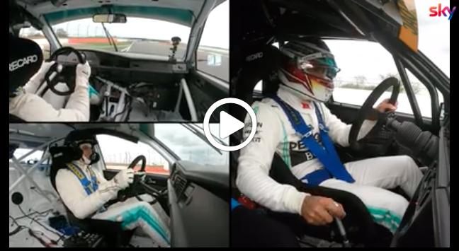 Formula 1 | Mercedes, Hamilton e Wolff si sfidano a Silverstone a bordo di due 190 E 2.5 [VIDEO]