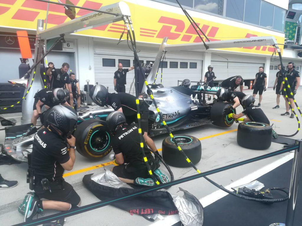 F1 | Mercedes, diverse sbavature nelle prove pit stop a Budapest