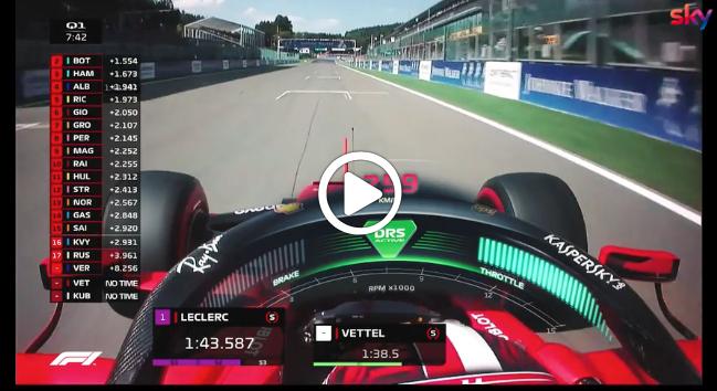 Formula 1 | GP Belgio, gli highlights delle qualifiche [VIDEO]