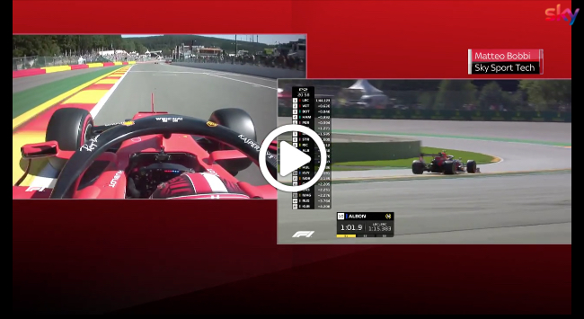 Formula 1 | GP Belgio, Vettel e Leclerc a confronto nel primo settore [VIDEO]