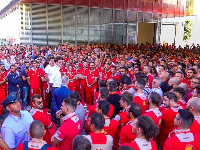 F1 | Ferrari, festeggiate a Maranello le vittorie di Spa e Monza