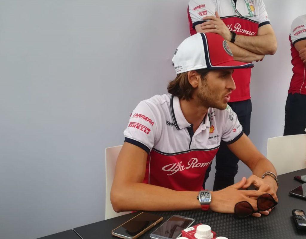 """F1   Monza, quattro chiacchiere con Giovinazzi: """"Voglio ringraziare i tifosi con un bel risultato"""""""